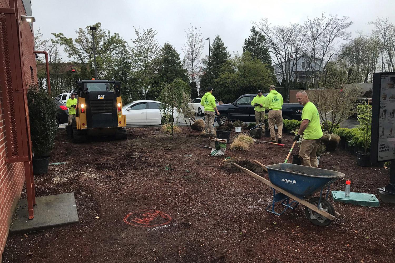 JAM working on McDonalds landscaping job