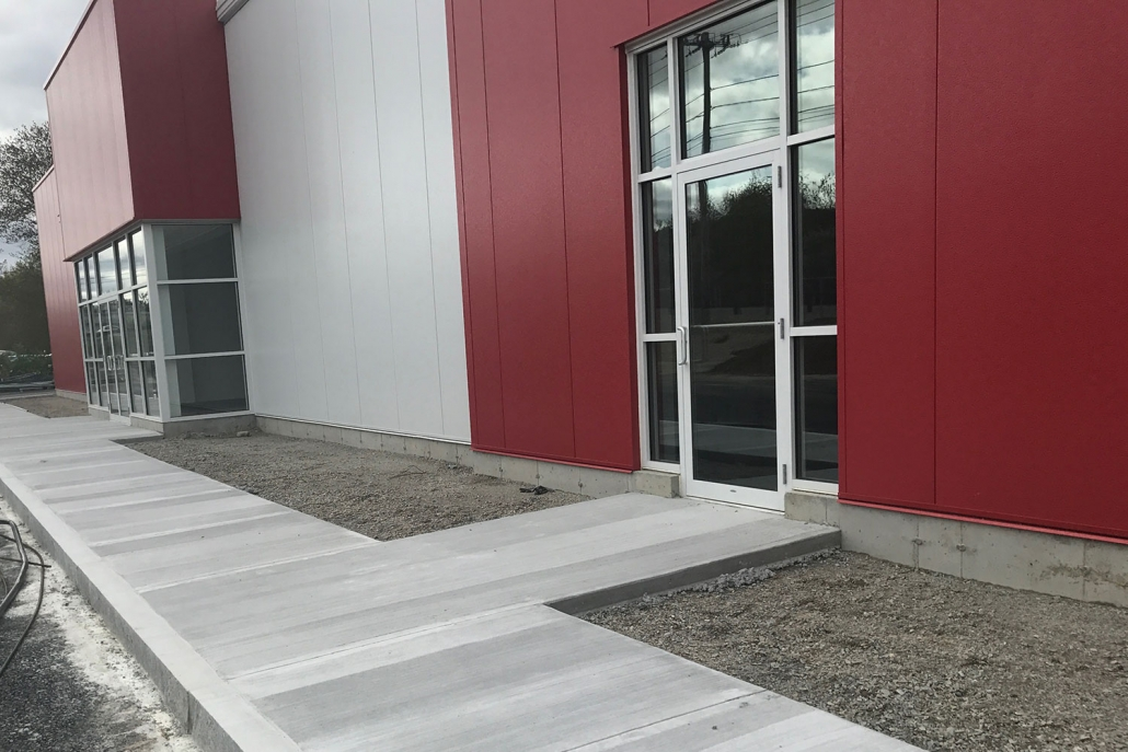 New cement walkway for commercial business